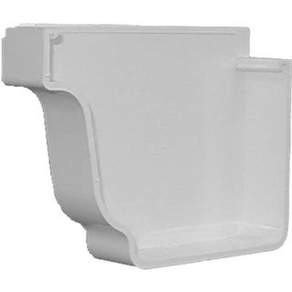 Repla K AW102K White Left Gutter End Cap