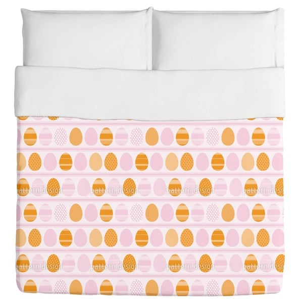 Pink Easter Egg Stripes Duvet