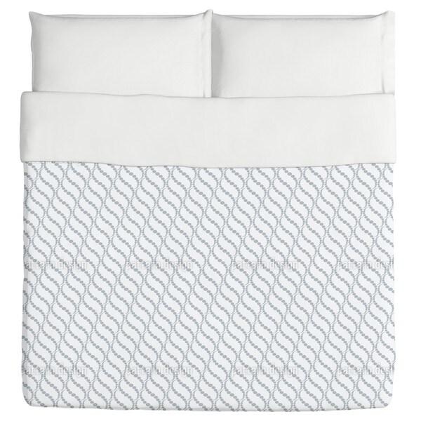 Wavy Dots Grey Duvet