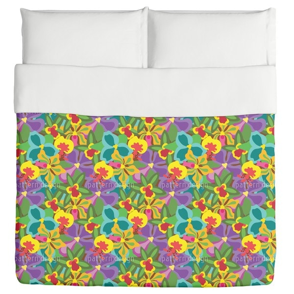 Colorful Orchid Duvet