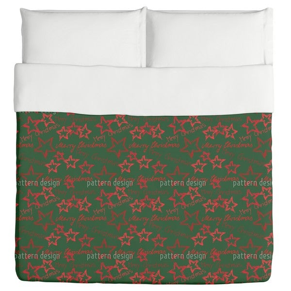 Merry Christmas Green Duvet