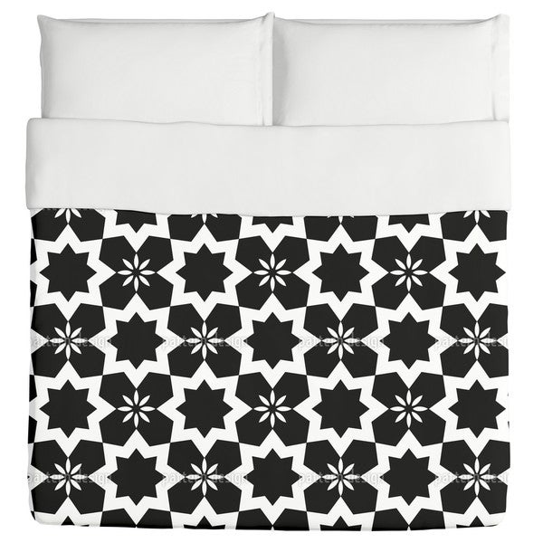 Stars Black And White Duvet