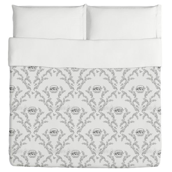 Emma's Cherries Grey Duvet