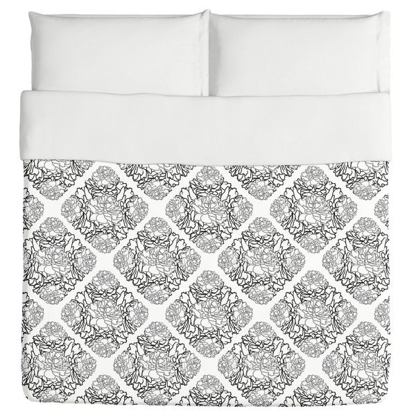 Rose Dream Black White Duvet