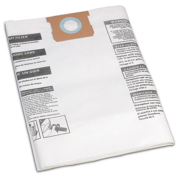 Shop Vac 906-63-33 16 To 22 Gallon Disposable Filter Bags 3-count