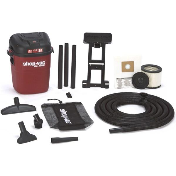 Shop Vac 394-01-00 3.5 Gallon 3 HP Wall Mount Wet & Dry Vac