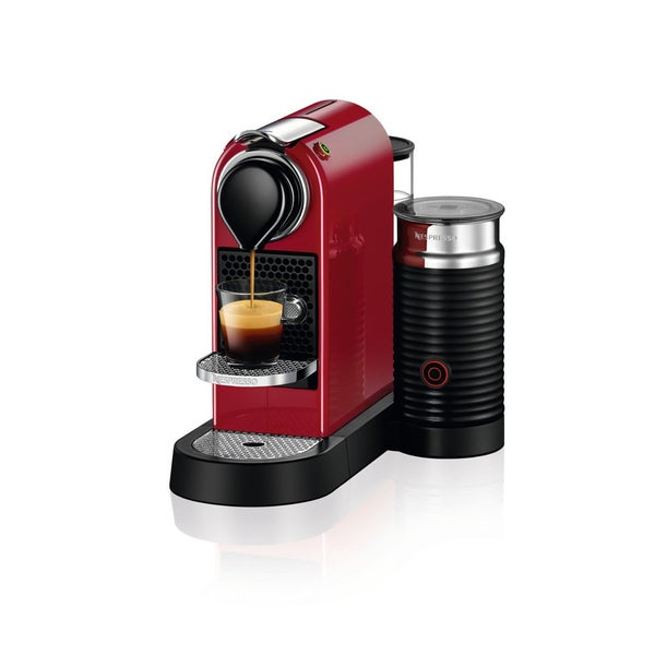 Nespresso CitiZ Espresso Machine & Milk Frother C122-US-CR-NE , Red