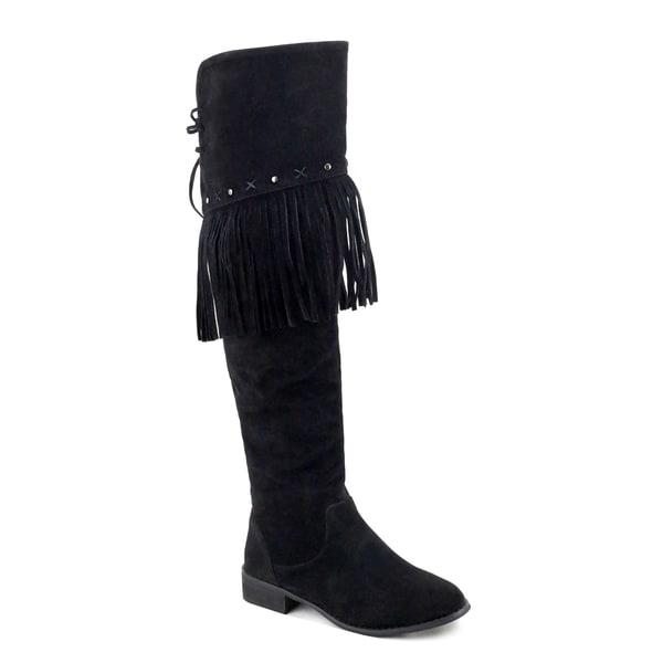 Olivia Miller Woodhaven Fringe Over-knee Boots