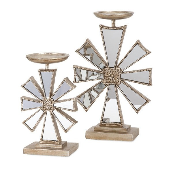Snowflake Candlesticks Holiday Decoration (Set of 2)