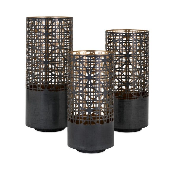 Modi Pierced Outdoor Lanterns (Set of 3)