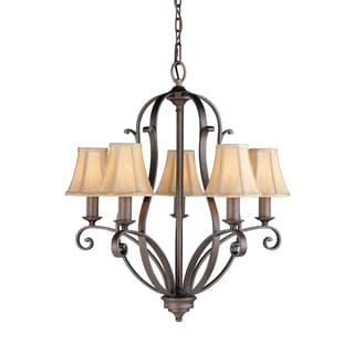 Feiss Tuscan Villa 5 Light Corinthian Bronze Chandelier