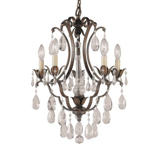 Feiss Maison De Ville 5 Light British Bronze Chandelier
