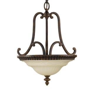 Feiss Drawing Room 2 Light Walnut Chandelier