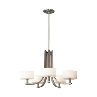 Feiss Sunset Drive 5 Light Brushed Steel Chandelier