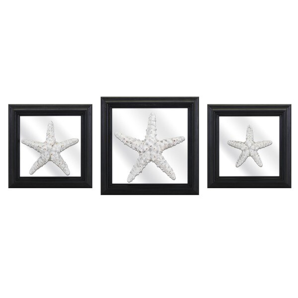 Jetty Starfish and Mirror Wall Decors (Set of 3)
