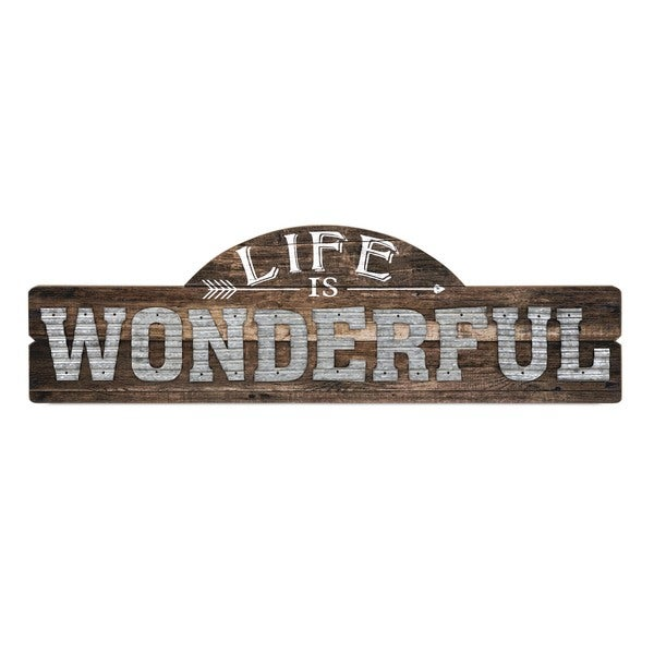 Life Is Wonderful Wall Decor