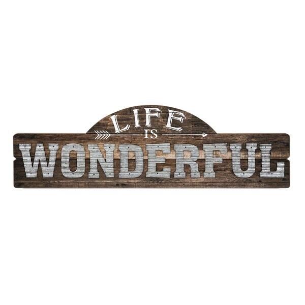 Life Is Wonderful Wall Decor