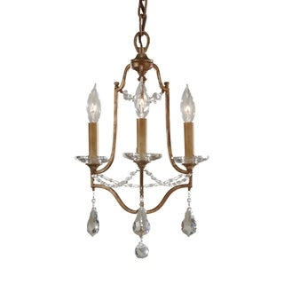 Feiss Valentina 3 Light Oxidized Bronze Chandelier