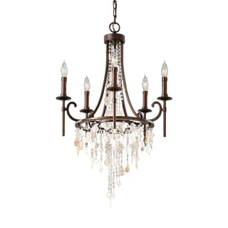 Feiss Cascade 5 Light Heritage Bronze Chandelier