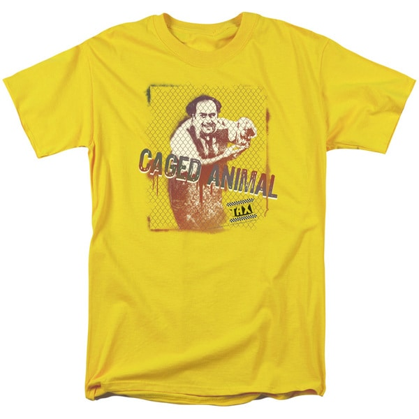 Taxi/Caged Animal Short Sleeve Adult T-Shirt 18/1 in Yellow