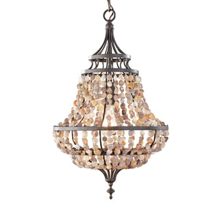 Feiss Maarid 1 Light Rustic Iron Chandelier