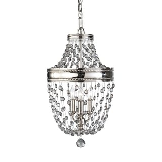 Feiss Malia 3 Light Polished Nickel Chandelier