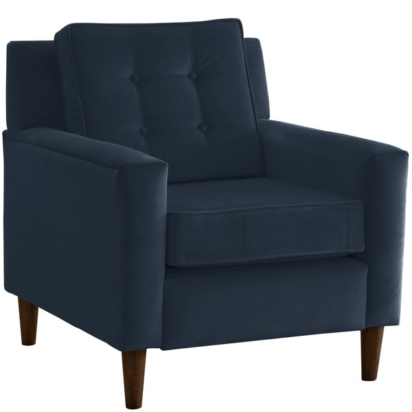 Skyline Furniture Navy Blue Microsuede Arm Chair