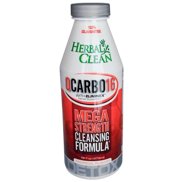 Herbal Clean Mega Strength QCarbo16 16-ounce Cleansing Formula Tropical