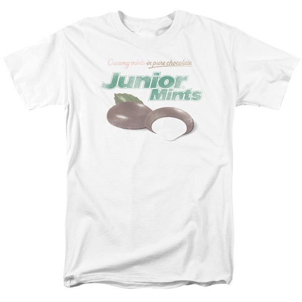 Tootsie Roll/Junior Mints Logo Short Sleeve Adult T-Shirt 18/1 in White