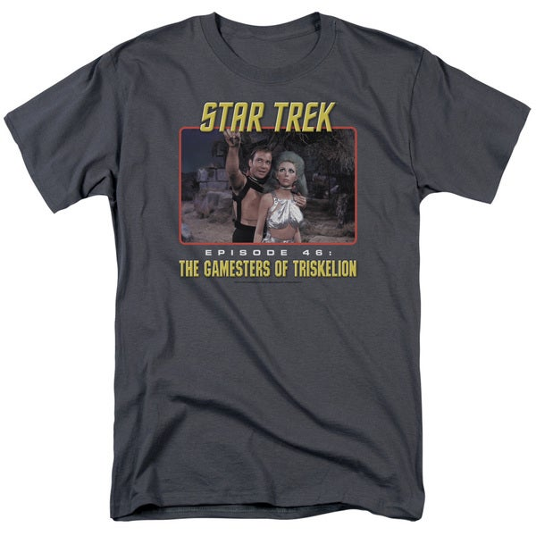 Star Trek/Episode 46 Short Sleeve Adult T-Shirt 18/1 in Charcoal