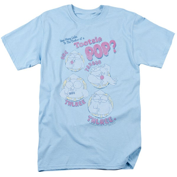 Tootsie Roll/Three Short Sleeve Adult T-Shirt 18/1 in Light Blue