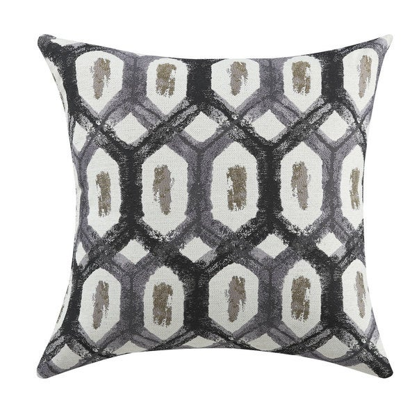 Turtle Shell Grey Fabric Throw Pillow