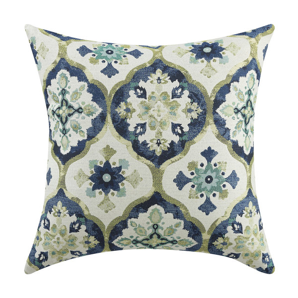 Kaleidoscope Blue/Green Throw Pillow