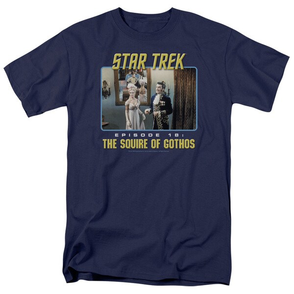 St Original/The Squire Of Gothos Short Sleeve Adult T-Shirt 18/1 in Navy