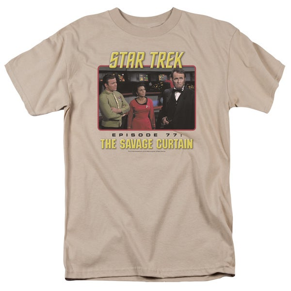 Star Trek/The Savage Curtain Short Sleeve Adult T-Shirt 18/1 in Sand
