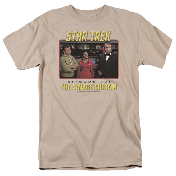 Star Trek/The Savage Curtain Short Sleeve Adult T-Shirt 18/1 in Sand