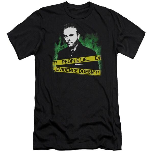 CSI/People Lie Short Sleeve Adult T-Shirt 30/1 in Black