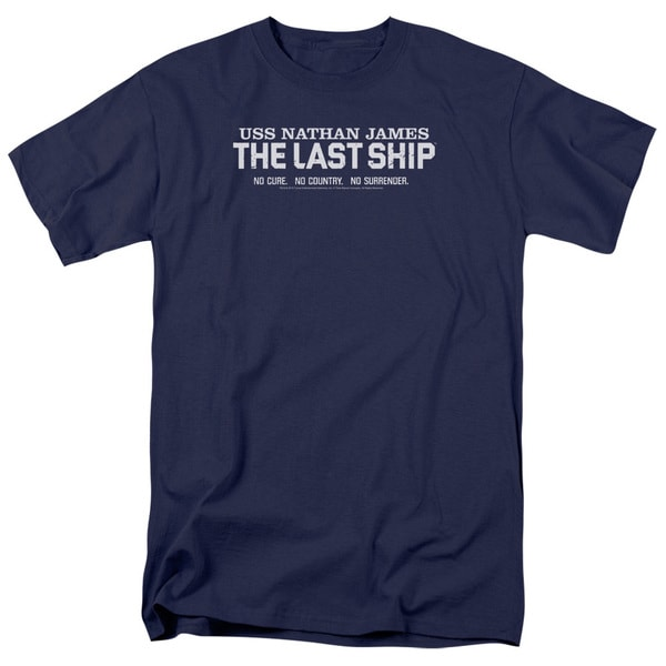 Last Ship/Find The Cure Short Sleeve Adult T-Shirt 18/1 in Navy