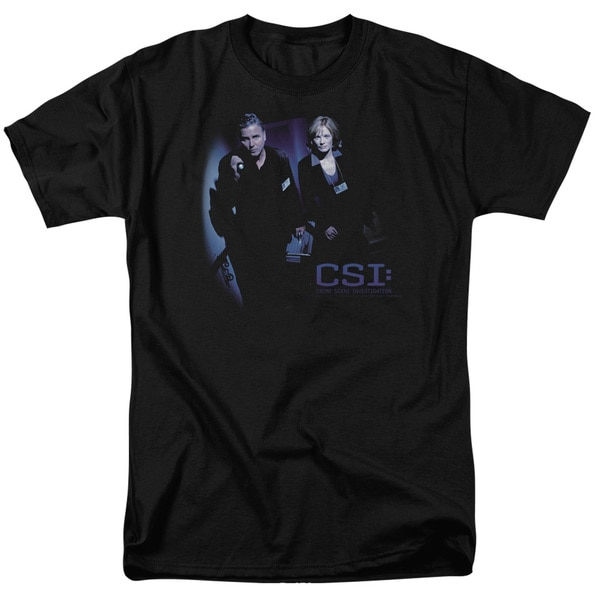 CSI/At The Scene Short Sleeve Adult T-Shirt 18/1 in Black