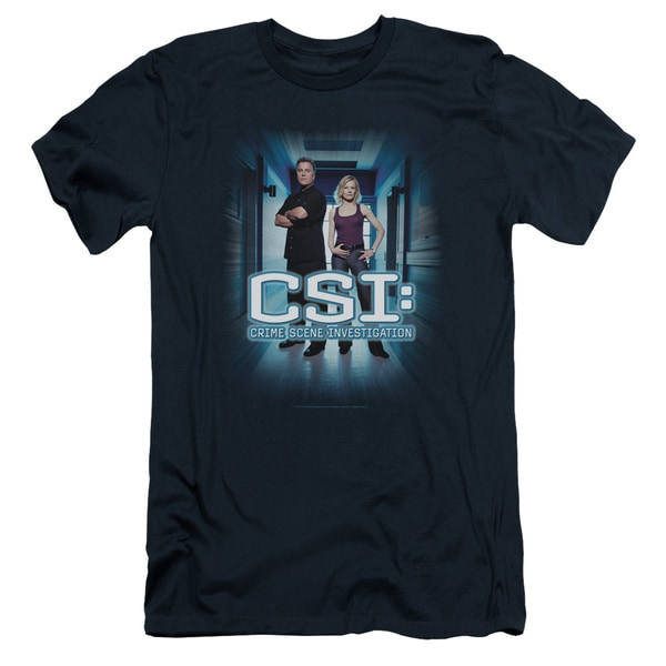 CSI/Serious Business Short Sleeve Adult T-Shirt 30/1 in Navy