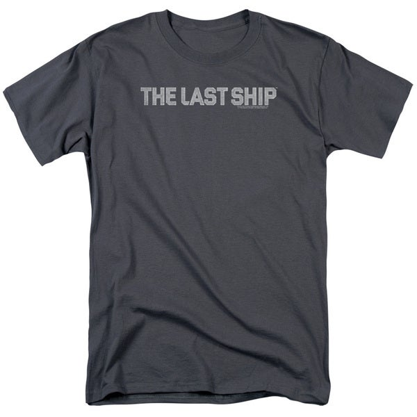 Last Ship/Distressed Logo Short Sleeve Adult T-Shirt 18/1 in Charcoal