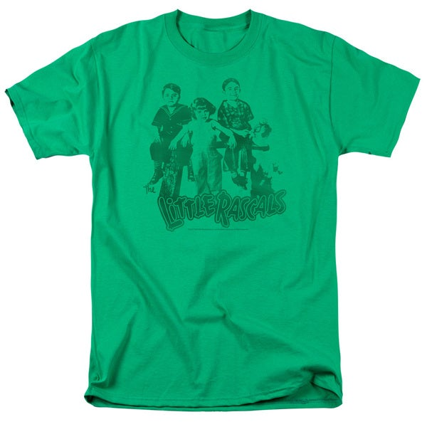 Little Rascals/The Gang Short Sleeve Adult T-Shirt 18/1 in Kelly Green