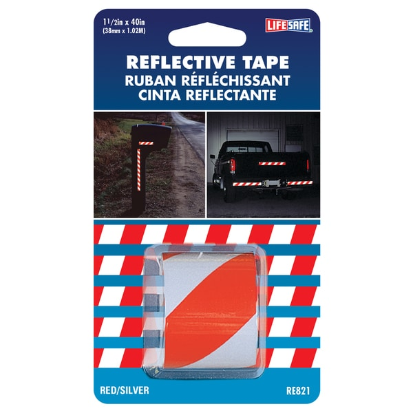 "Incom RE821 1-1/2"" X 40"" Red & Silver Reflective Tape"
