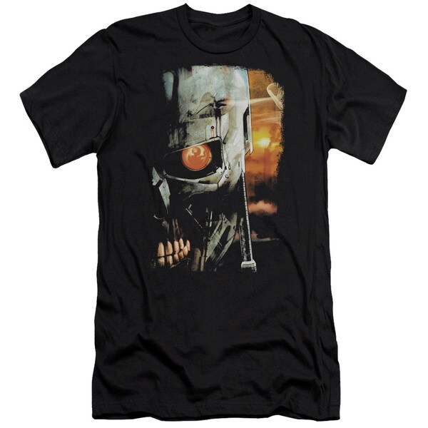 Terminator/Sketchy Short Sleeve Adult T-Shirt 30/1 in Black