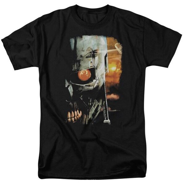 Terminator/Sketchy Short Sleeve Adult T-Shirt 18/1 in Black