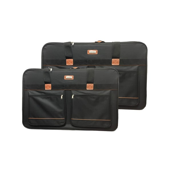 Xinix Pullman Black Polyester 2-piece Luggage Set