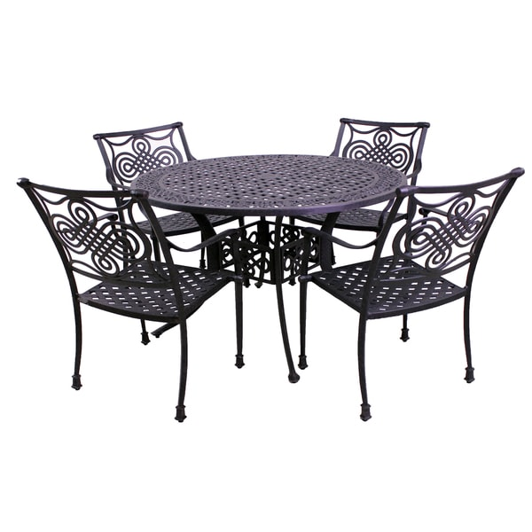 Corona 5-Piece Outdoor Round Dining Set