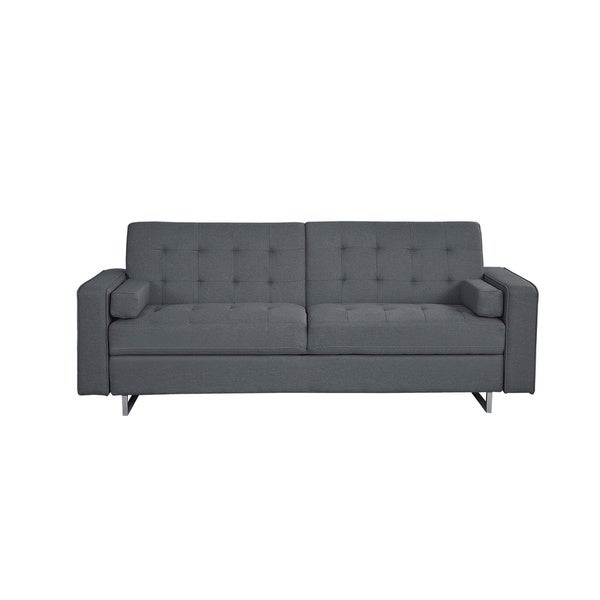 Modern Fabric Convertible Futon Sofa Bed