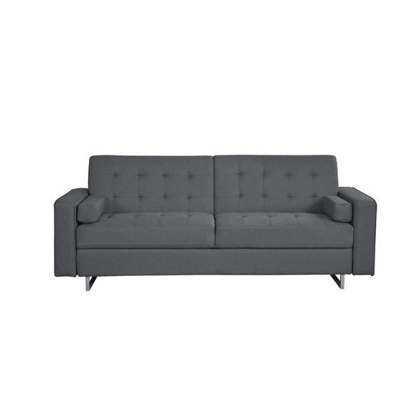Modern Fabric Convertible Futon Sofa Bed