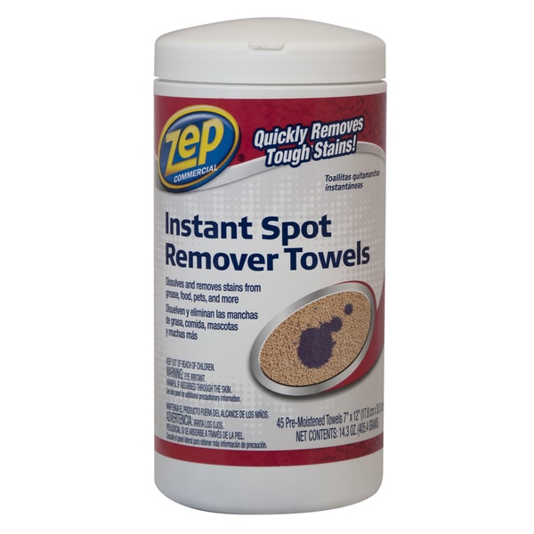 Zep Commercial ZUISRT45 45 Pre-Moistened Instant Spot Remover Towels